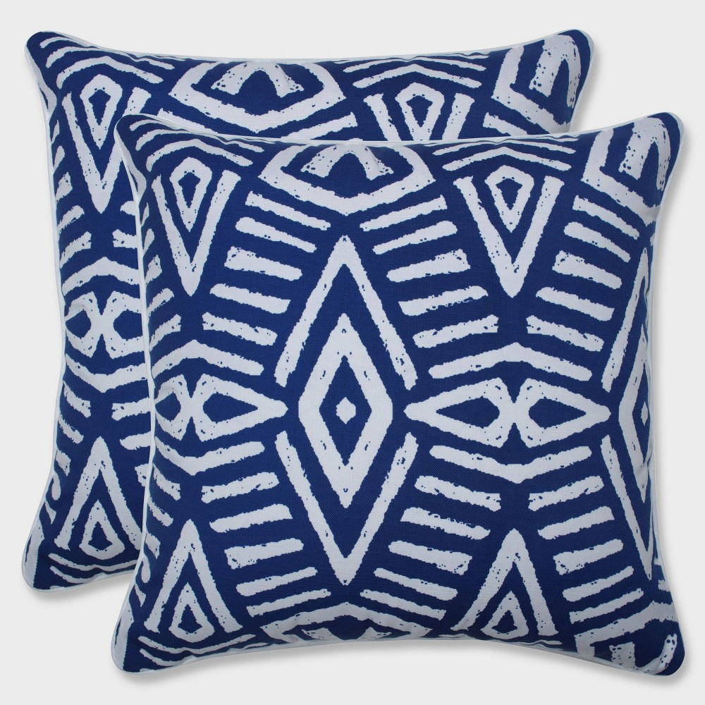 16 5 34 2pk Geometric Dimensions Throw Pillows Blue Pillow Perfect