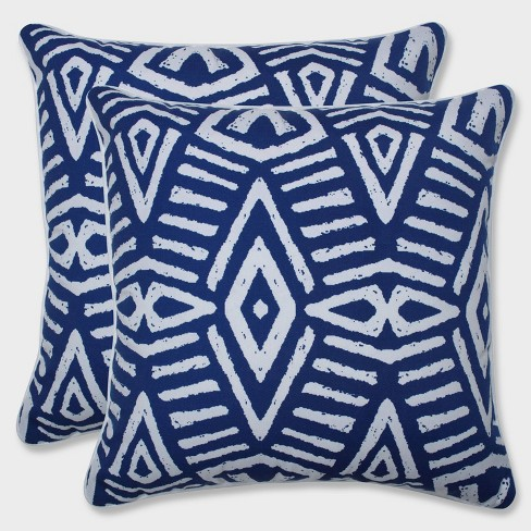 "16.5"" 2pk Tribal Dimensions Throw Pillows Blue - Pillow Perfect - image 1 of 1"