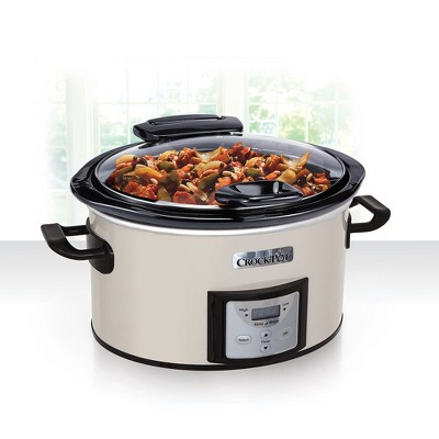 Crock-Pot 4qt Lift & Serve Slow Cooker Programmable - Eggshell SCCPVP400H-PY