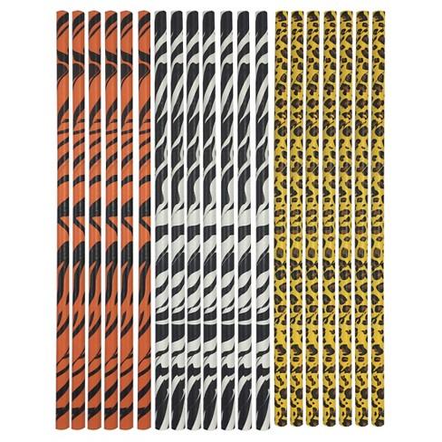 9724b42113 18 Ct Animal Print Paper Straws - Spritz™   Target