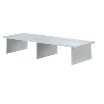 """Large Monitor Riser TV Stand for TVs up to 55"""" White - Breighton Home"""