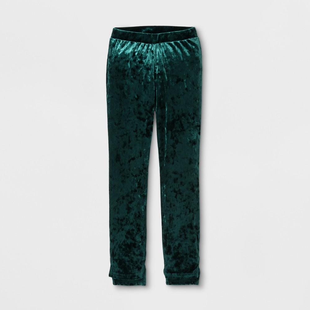 Girls' Velvet Leggings - art class Green L