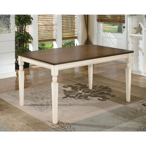 Whitesburg Rectangular Dining Room Table Wood Brown Cottage White Signature Design By Ashley Target