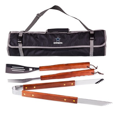 Dallas Cowboys 3-Piece BBQ Tote and Tools Set by Picnic Time