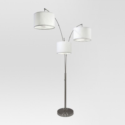 Avenal Shaded Arc Floor Lamp Brushed Nickel - Project 62™