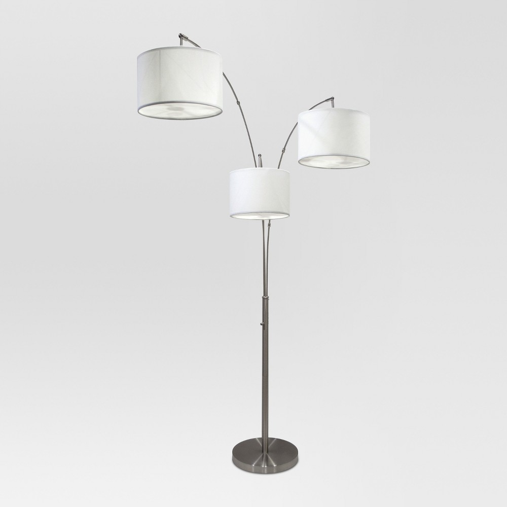 Avenal Shaded Arc Floor Lamp Brushed Nickel Lamp Only - Project 62