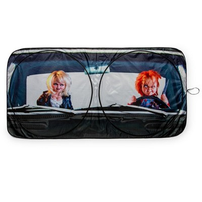 Surreal Entertainment Child's Play Chucky Sunshade for Car Windshield   64 x 32 Inches