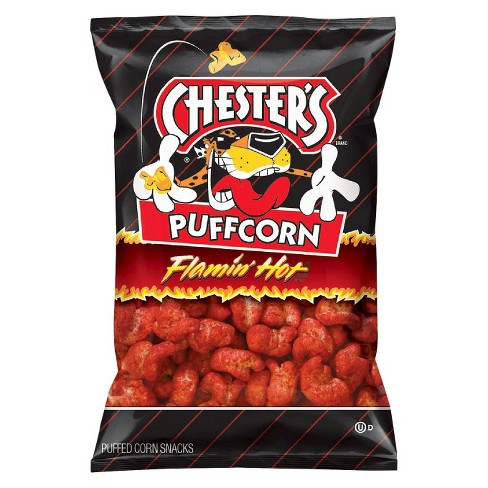 Chester's Puffcorn Flamin' Hot Puffed Corn Snacks - 4.5oz - image 1 of 3