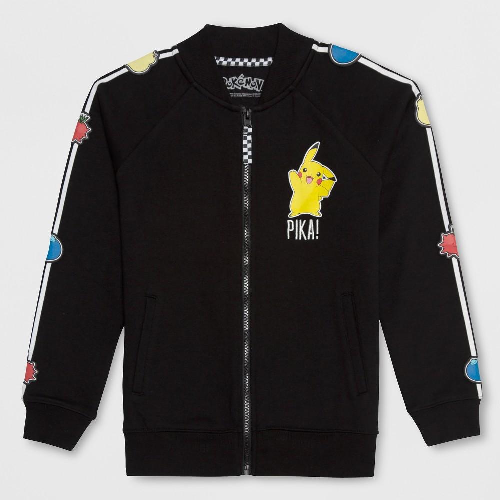 Girls' Pokemon Pikachu Track Jacket - Black M