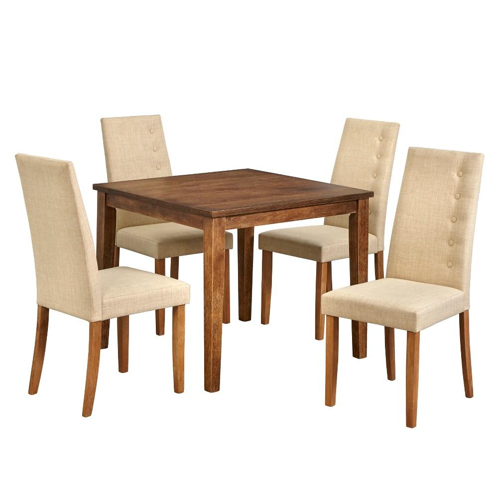 5pc Carmen Dining Set Beige - Lifestorey