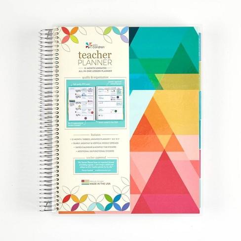"Undated Teacher Planner 8.5"" x 11"" Triangle Overlay - erin condren - image 1 of 4"