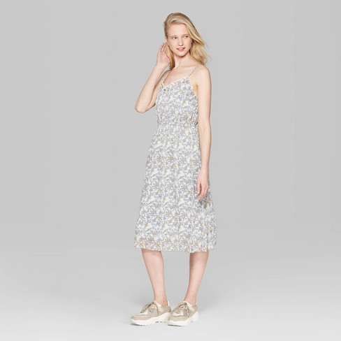aaf3342cc3 Women s Floral Print Sleeveless V-Neck Strappy Sheer Midi Dress - Wild  Fable™ Cream Coral View   Target