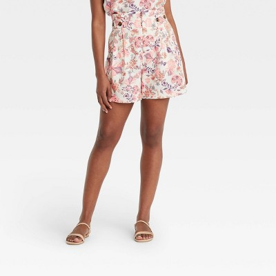 Women's Button Detail Paperbag Shorts - Who What Wear™