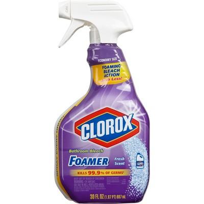 Clorox Bathroom Foamer with Bleach Spray Bottle Fresh Scent 30 oz