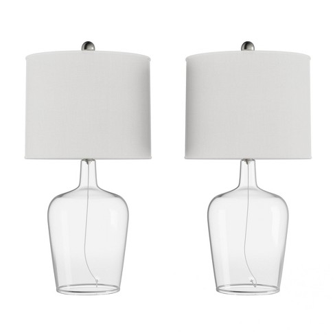 Set of 2 Cloche Style Glass Table Lamps - image 1 of 4