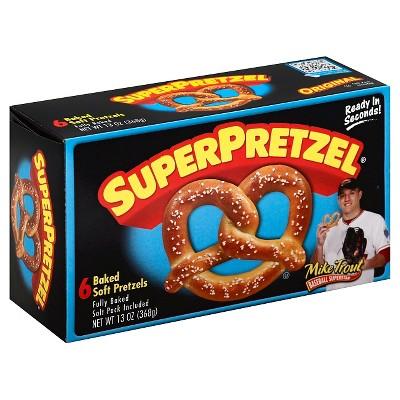 SuperPretzel Frozen Baked Soft Pretzels - 6ct/13oz