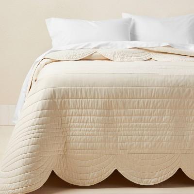 Full/Queen Scalloped Edge Quilt Cream - Opalhouse™ designed with Jungalow™