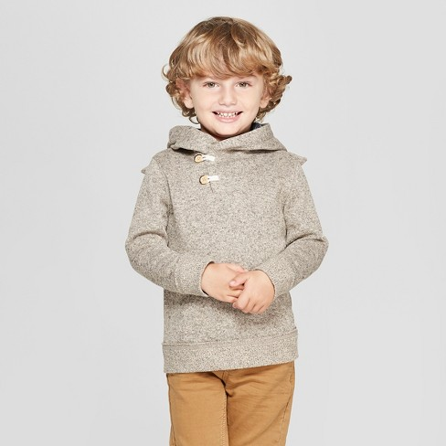 Genuine Kids® from OshKosh Toddler Boys' Pullover With Bunny Ears Hood Sweatshirt - Oatmeal - image 1 of 3
