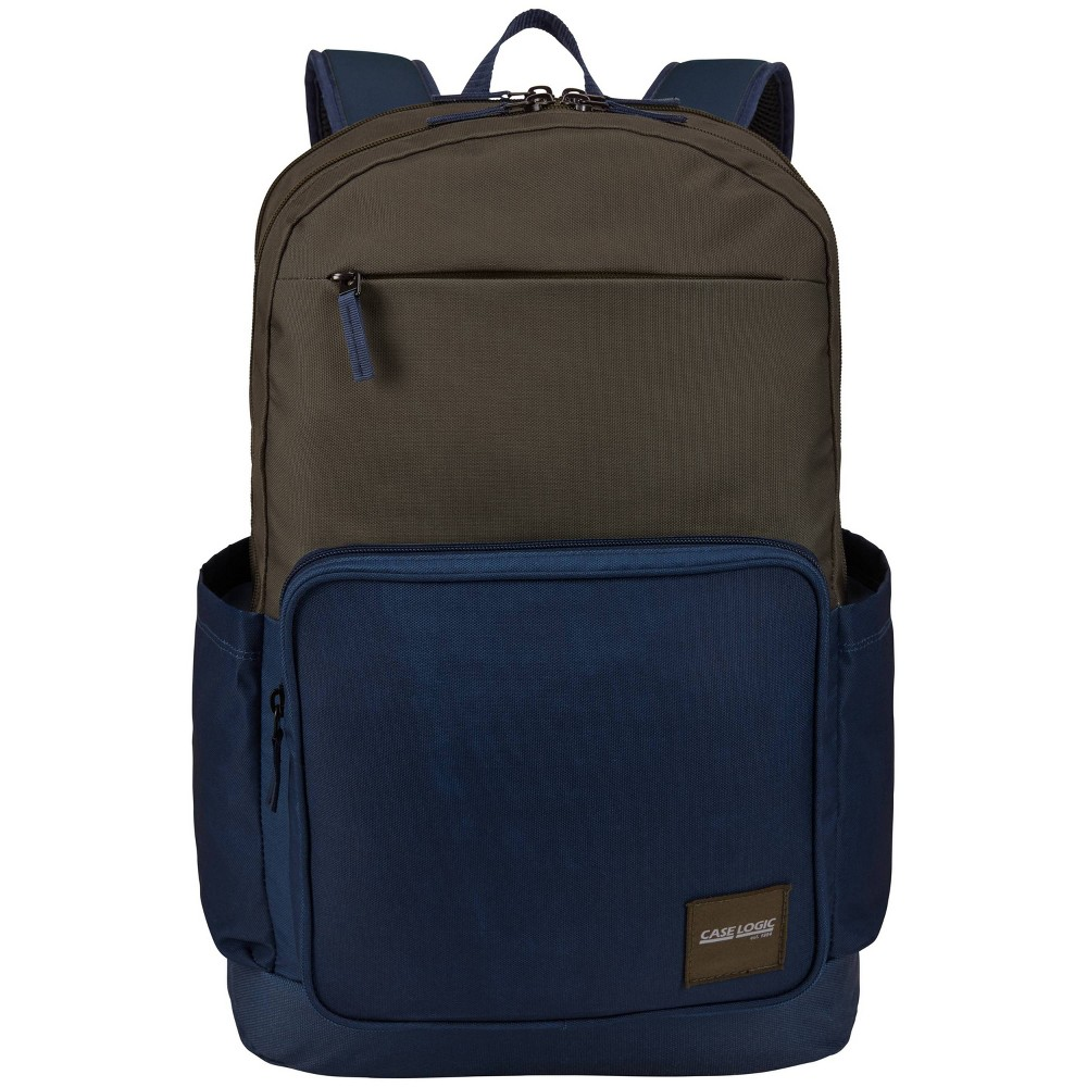 "Image of ""Case Logic 18.1"""" Query Backpack - Olive/Blue, Size: Small, Blue Green"""
