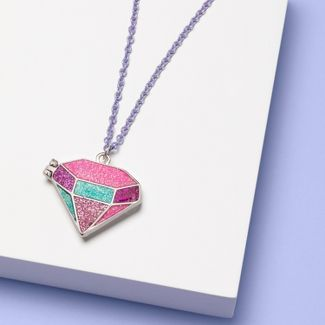 Girls' Locket Necklace - More Than Magic™ Pink
