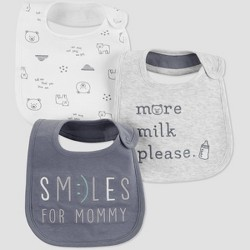 Baby Smiles For Mommy Bib - Just One You® made by carter's OSZ Gray