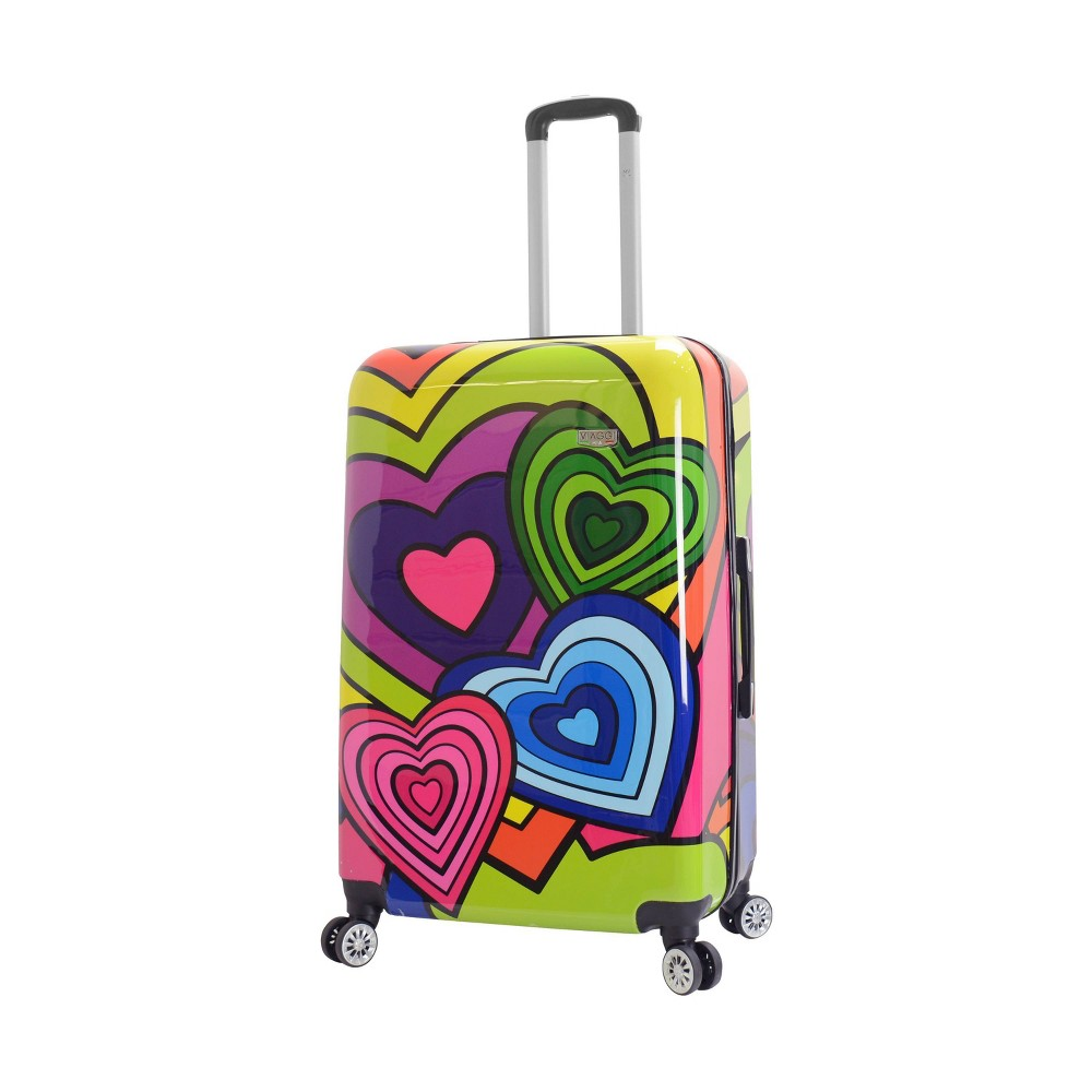 "Image of ""Mia Viaggi ITALY 28"""" Hardside Suitcase - Pop Heart, MultiColored"""
