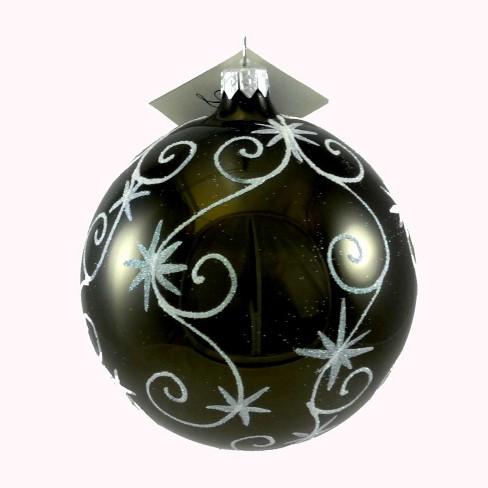 Laved Italian Ornaments Black Ball Stars And Swirls  -  Tree Ornaments - image 1 of 3