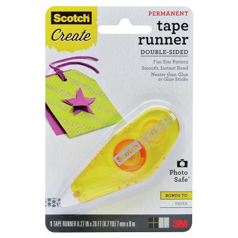 Scotch™ Patterned Tape Runner, Stars Pattern, Yellow Dispenser, Permanent, 0.27 in X 26 ft - image 1 of 1