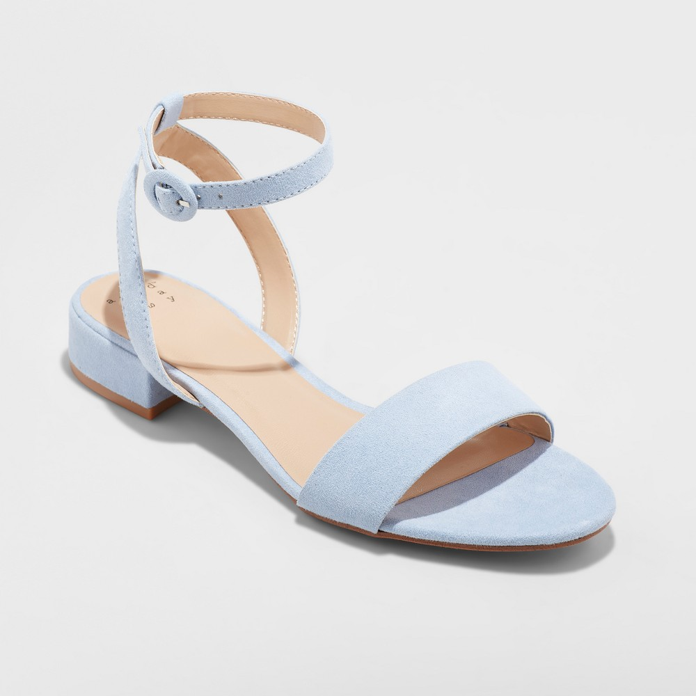 Women's Winona Ankle Strap Sandal - A New Day Blue 9