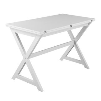 Clackson Convertible Console To Dining Table White - Aiden Lane