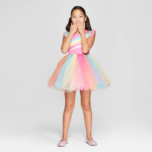 598196c2b2 Girls  Nickelodeon JoJo s Closet Tutu Rainbow Skater Dress   Target