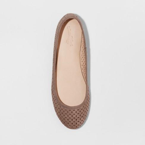 56f28cb3f41 Women s Alisa Wide Width Round Toe Ballet Flats - Universal Thread™ Gray  6.5W   Target