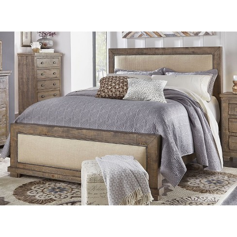 King Willow Upholstered Headboard Weathered Gray Progressive Target