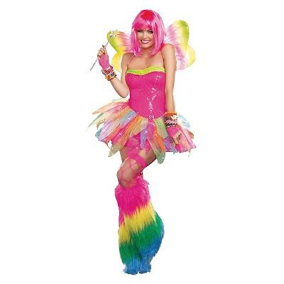 Adult Rainbow Fairy Halloween Costume