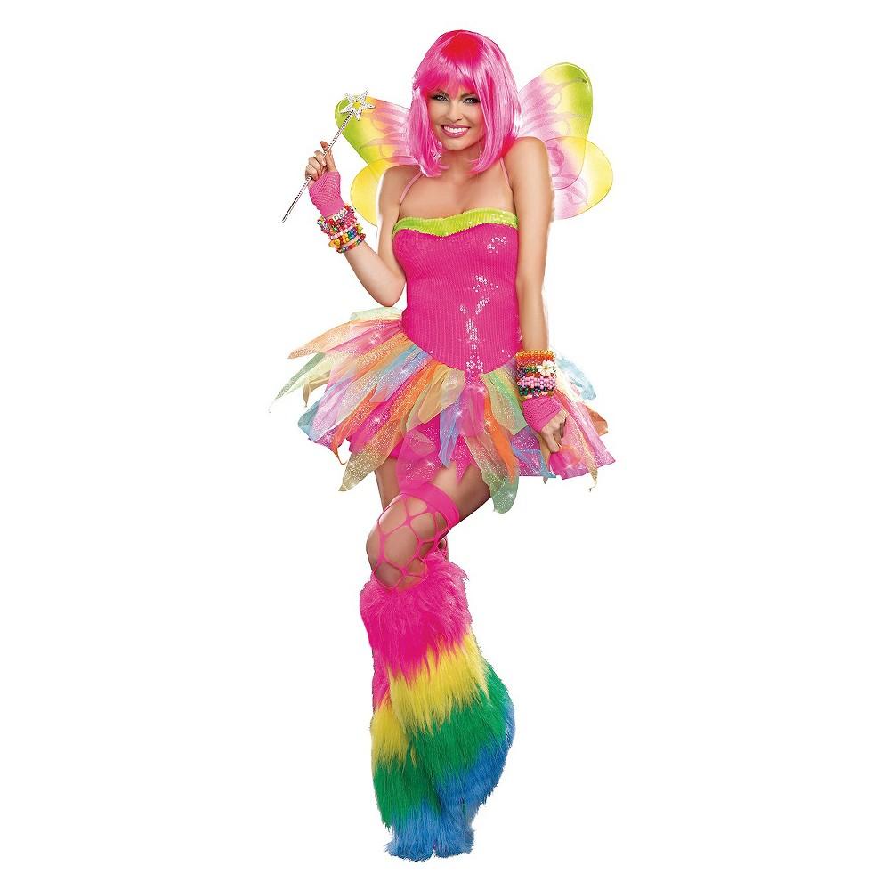 Adult Rainbow Fairy Halloween Costume Xl