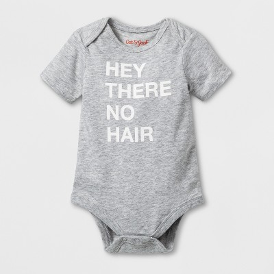 Baby 'No Hair' Graphic Bodysuit - Cat & Jack™ Heather Gray Newborn