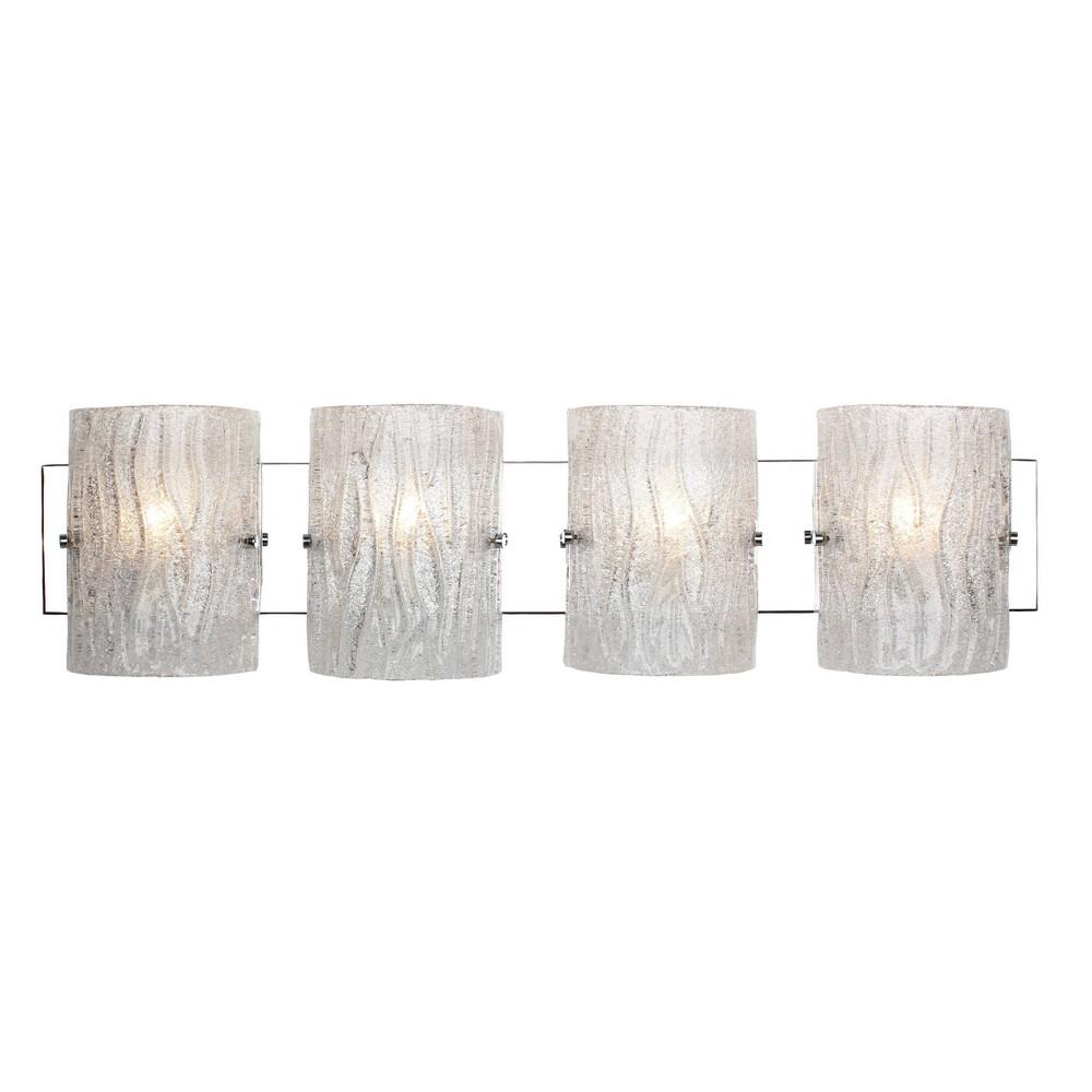 Image of 4 Light Bath Vanity Silver