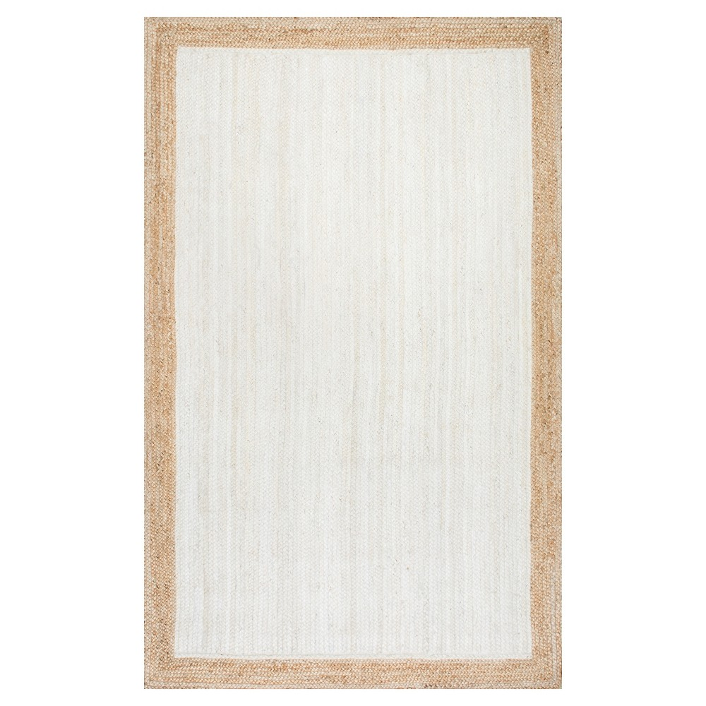 White Solid Loomed Area Rug - (4'x6') - nuLOOM