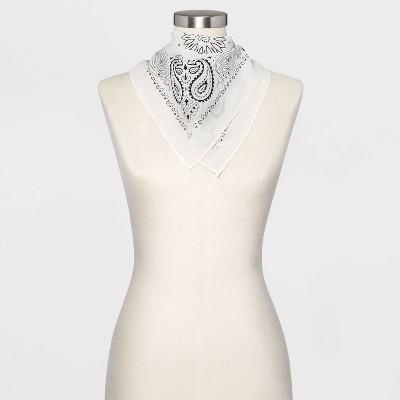 Women's Paisley Print Bandana - Wild Fable™ White