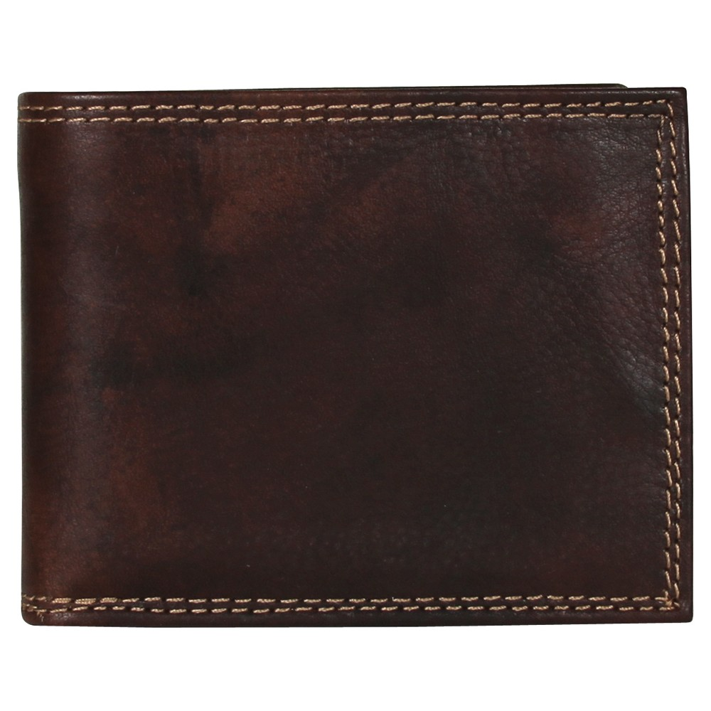 Image of Buxton Men's Hunt Convertible Billfold Wallet - Brown, Men's, Size: Small