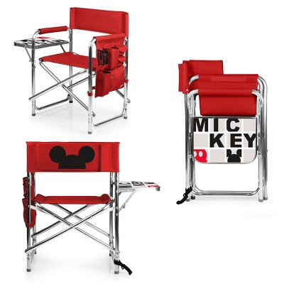 Picnic Time Disney Mickey Mouse Folding Camping Sports Chair - Red