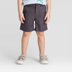 Toddler Boys' Quick Dry Chino Shorts - Cat & Jack™ Black