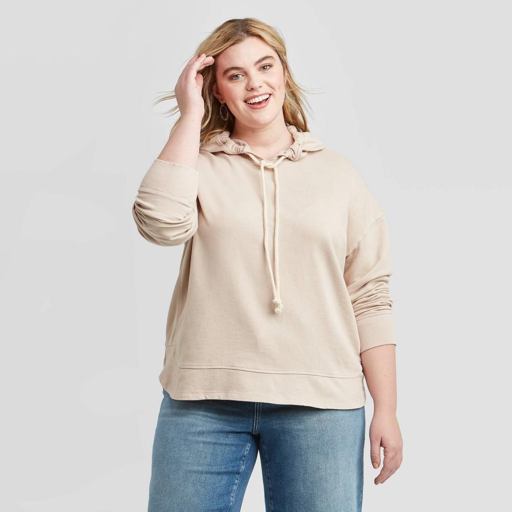 Women's Plus Size Hoodie Sweatshirt - Universal Thread Blush 2X was $24.99 now $17.49 (30.0% off)