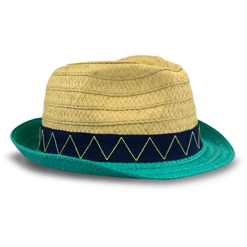 Toddler Boys' Paper Braid Fedora Hat - Cat & Jack Natural 2T-5T