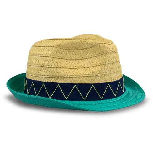 Toddler Boys' Paper Braid Fedora Hat - Cat & Jack™ Natural 2T-5T - image 1 of 2