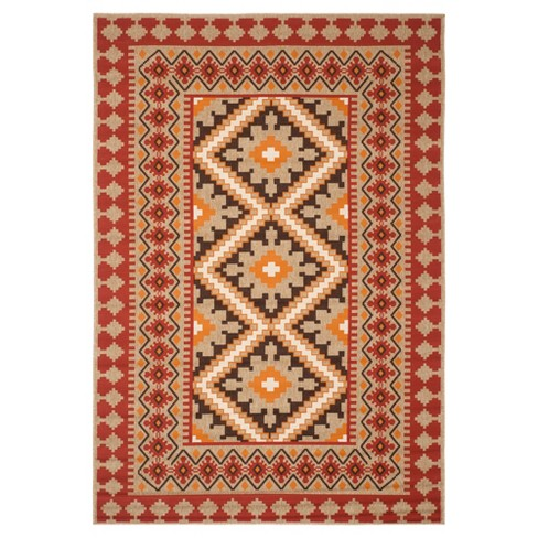 Nadir Indoor Outdoor Area Rug Red