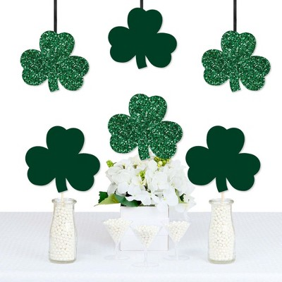 Big Dot of Happiness St. Patrick's Day - Shamrock Decorations DIY Saint Patty's Day Party Essentials - Set of 20
