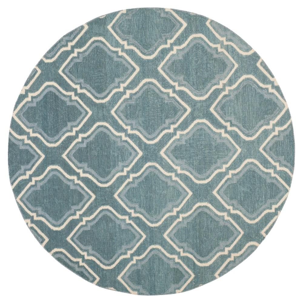 Dhurries Rug - Blue/Ivory - (6'x6' Round) - Safavieh