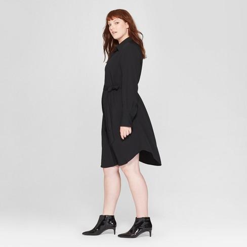 Womens Plus Size Long Sleeve Collared Shirt Dress Prologue Target