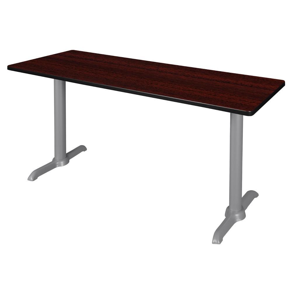 66 Via Training Table Mahogany/Gray (Brown/Gray) - Regency